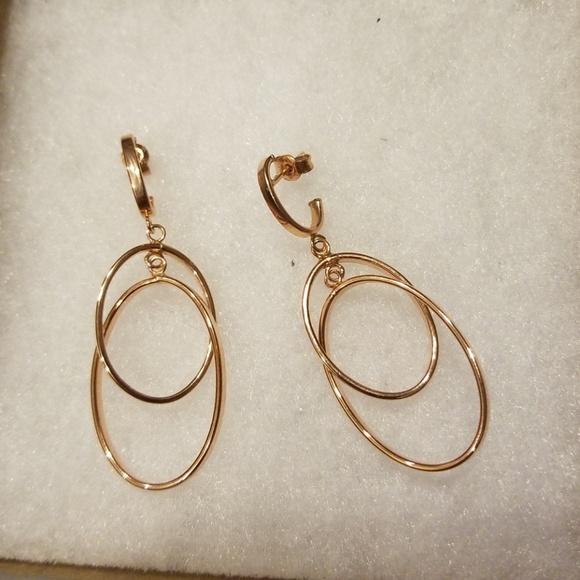 Qvc Jewelry Real Rose Gold Earrings Poshmark